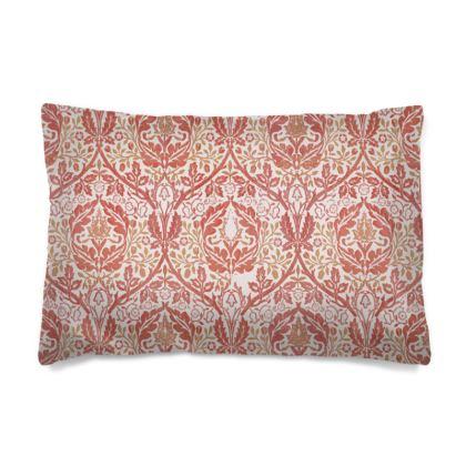 Pillow Cases Sizes - William Morris' Golden Bough Red Remix