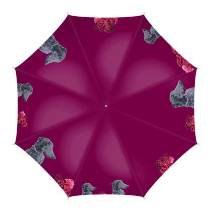 Lark the Greyhound Fine Art Print Umbrella by Somerset (UK) Artist and Designer Amanda Boorman
