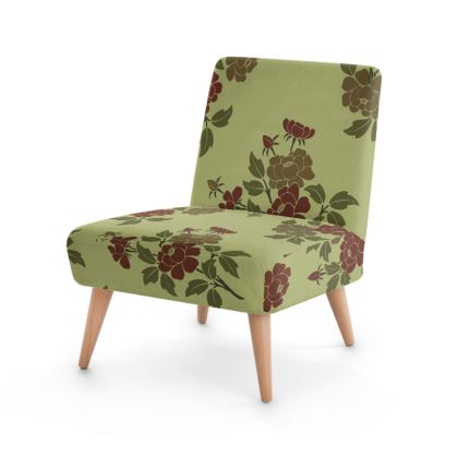 Occasional Chair - Japanese flowers and leaves pattern Remaster