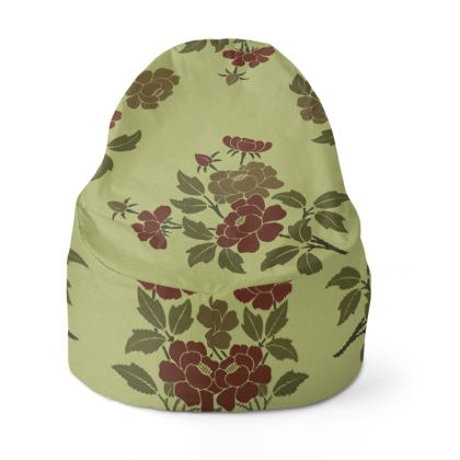Bean Bag Cover - Japanese flowers and leaves pattern Remaster