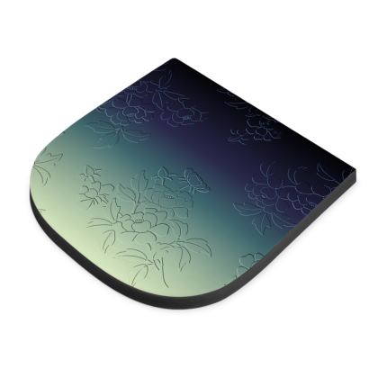 Seat Pad - Japanese flowers and leaves pattern Engraved Remix
