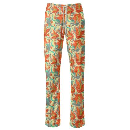 Floral Womens Trousers  Lily Garden  Orangery