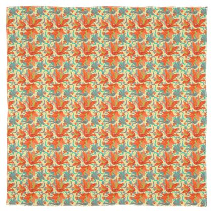 Floral Scarf, Wrap, or Shawl  Lily Garden  Orangery