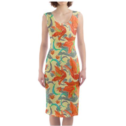 Floral Bodycon Dress  Lily Garden  Orangery
