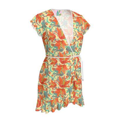 Floral Tea Dress  Lily Garden  Orangery