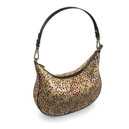 Leopard Skin Collection Curve Hobo Bag