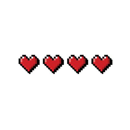 Fabric Placemats - Pixel Hearts - Full Health Bar