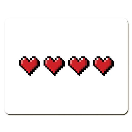 Placemats - Pixel Hearts - Full Health Bar