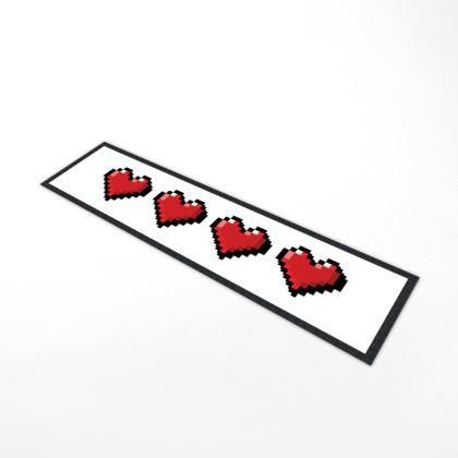 Bar Runner Mat - Pixel Hearts - Full Health Bar