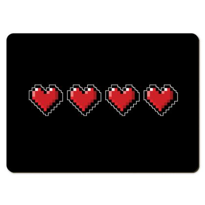Large Placemats - Pixel Hearts - Full Health Bar