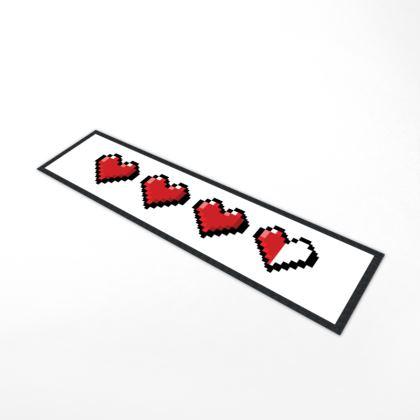 Bar Runner Mat - Pixel Hearts - Damage Taken Health Bar