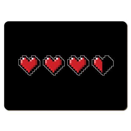 Large Placemats - Pixel Hearts - Damage Taken Health Bar