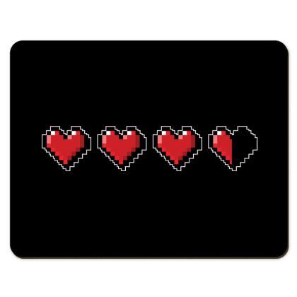 Placemats - Pixel Hearts - Damage Taken Health Bar