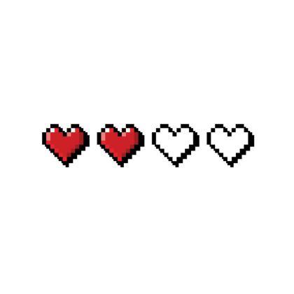 Fabric Placemats - Pixel Hearts - Half Health Bar