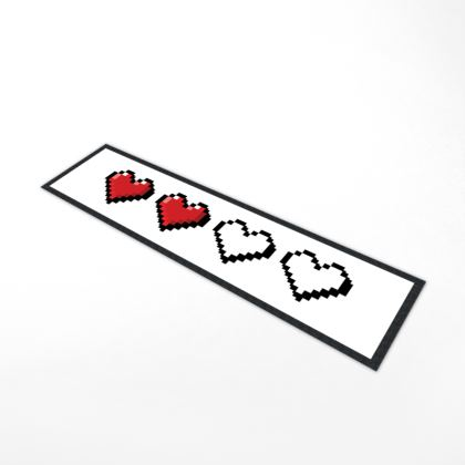 Bar Runner Mat - Pixel Hearts - Half Health Bar