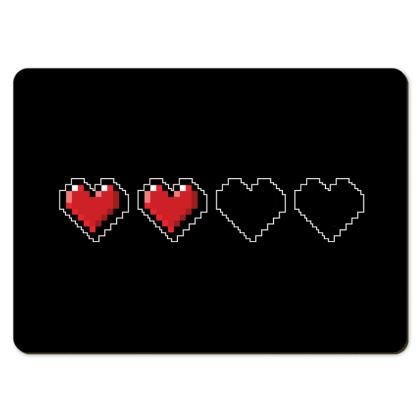Large Placemats - Pixel Hearts - Half Health Bar