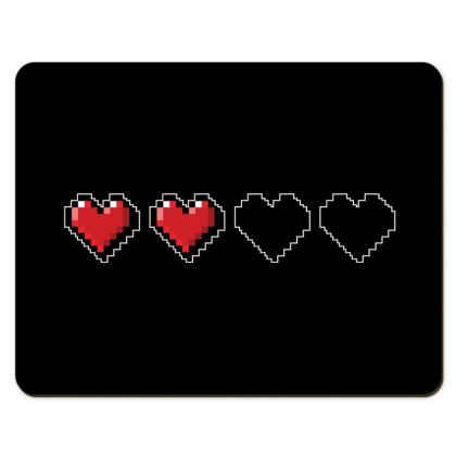 Placemats - Pixel Hearts - Half Health Bar
