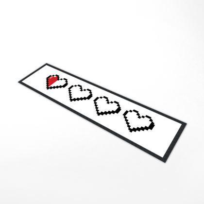 Bar Runner Mat - Pixel Hearts - Near Death Danger Health Bar