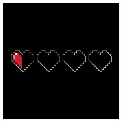 Coasters - Pixel Hearts - Near Death Danger Health Bar