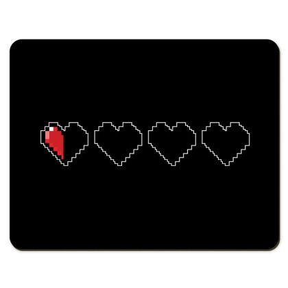 Placemats - Pixel Hearts - Near Death Danger Health Bar