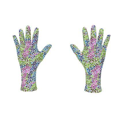 Leopard Skin Multicoloured Collection Fleece Gloves