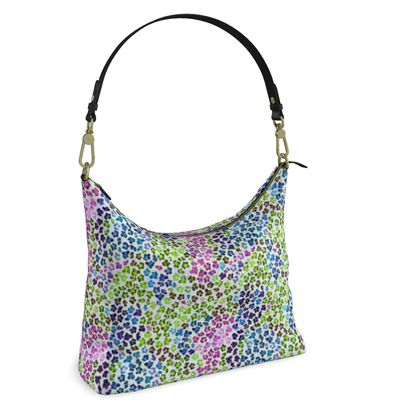 Leopard Skin Multicoloured Collection Square Hobo Bag