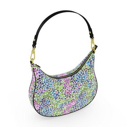 Leopard Skin Multicoloured Collection Curve Hobo Bag