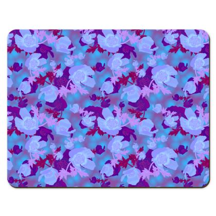 Floral Placemats  Field Poppies  Midnight [blue]