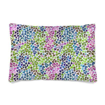 Leopard Skin Multicoloured Collection Silk Pillow Case