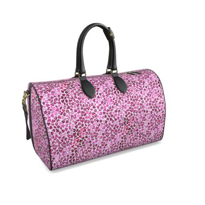 Leopard Skin in Magenta Collection Duffle Bag