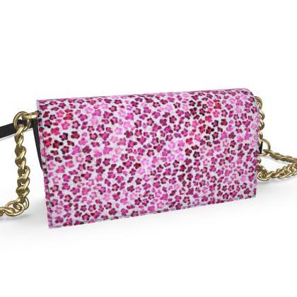 Leopard Skin in Magenta Collection Oana Evening Bag