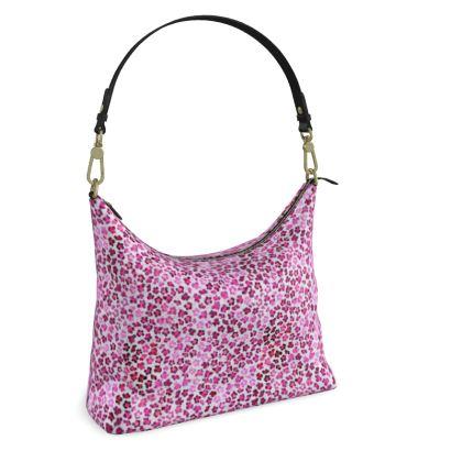 Leopard Skin in Magenta Collection Square Hobo Bag