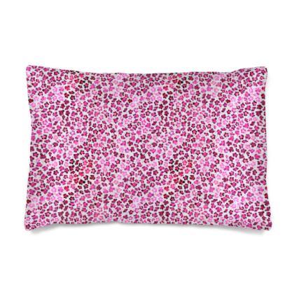 Leopard Skin in Magenta Collection Silk Pillow Case