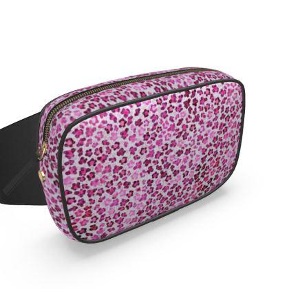 Leopard Skin in Magenta Collection Belt Bag