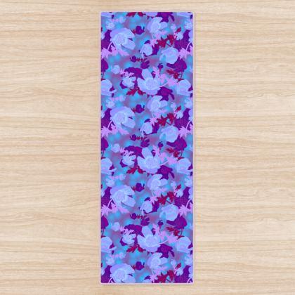 Blue Yoga Mat  Field Poppies  Midnight [blue]