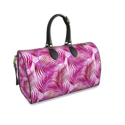Tropical Garden Collection in Magenta Duffle Bag