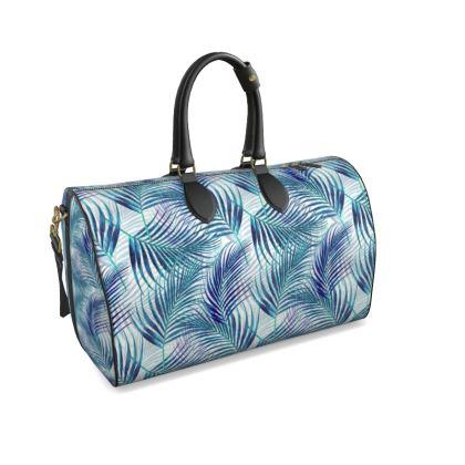 Tropical Garden in Blue Collection Duffle Bag