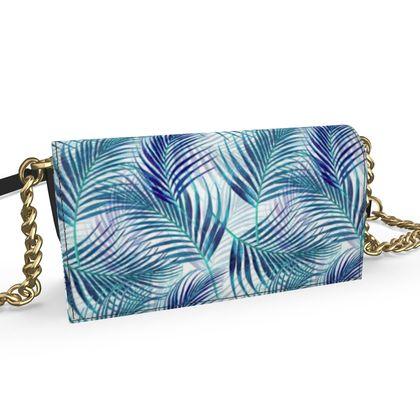 Tropical Garden in Blue Collection Oana Evening Bag