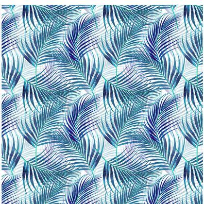 Tropical Garden in Blue Collection Mens Silk Pyjama Bottoms