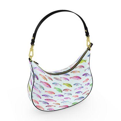 Tropical Fish Collection Curve Hobo Bag