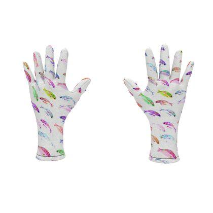 Tropical Fish Collection Fleece Gloves