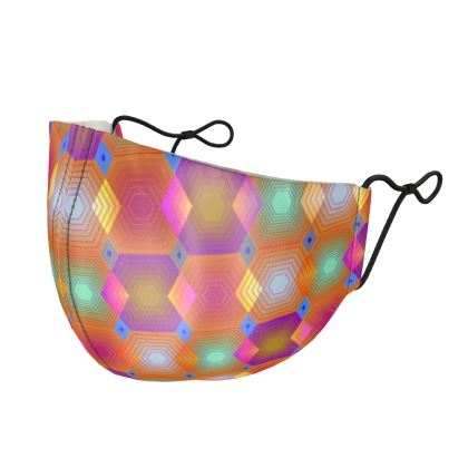 Geometrical Shapes Collection Silk Face Masks