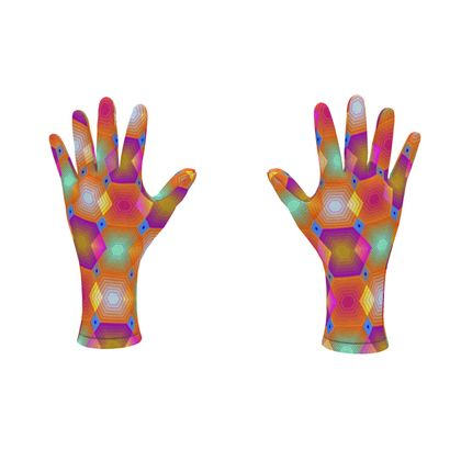 Geometrical Shapes Collection Fleece Gloves