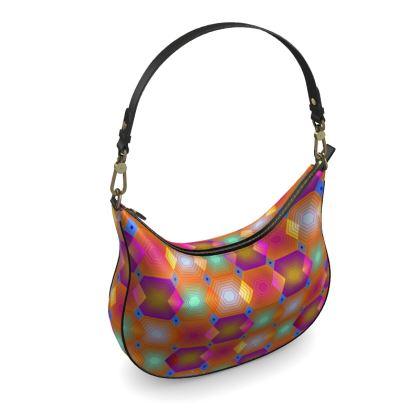 Geometrical Shapes Collection Curve Hobo Bag