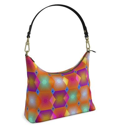 Geometrical Shapes Collection Square Hobo Bag