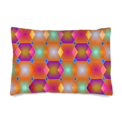 Geometrical Shapes Collection Silk Pillow Case