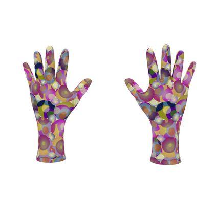Moon Collection on cream Fleece Gloves