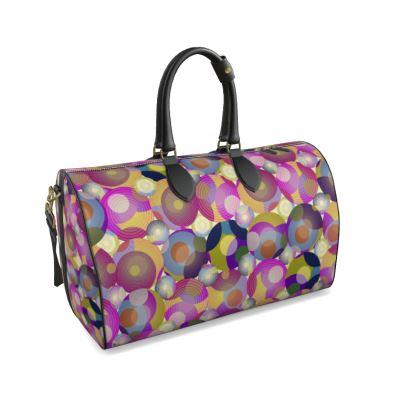 Moon Collection on cream Duffle Bag