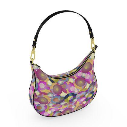 Moon Collection on cream Curve Hobo Bag
