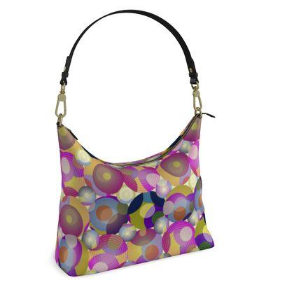 Moon Collection on cream Square Hobo Bag